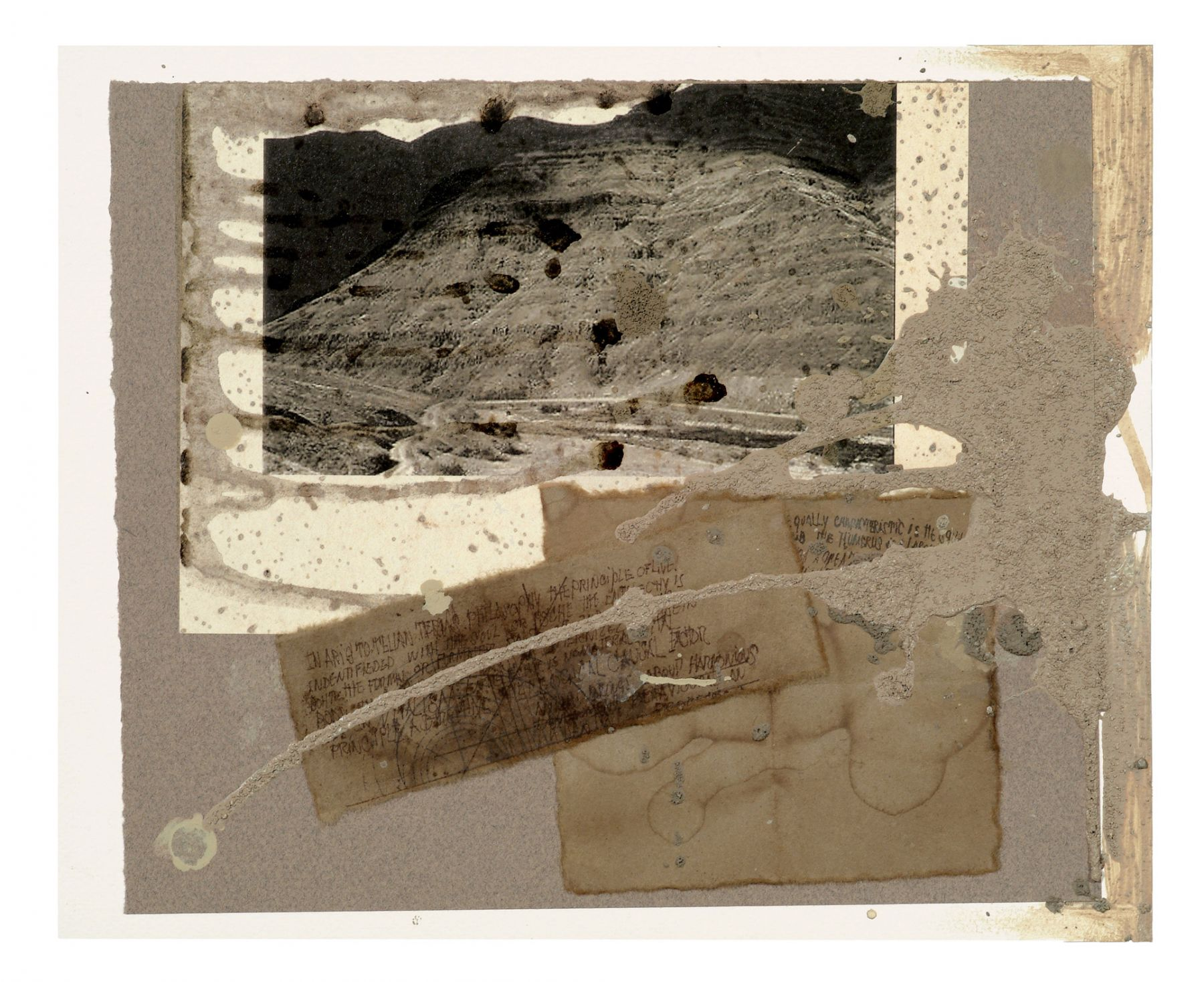 Untitled, 2002–03 Cardboard, print, rice paper, oil, sand, acrylic, and ink on cardboard