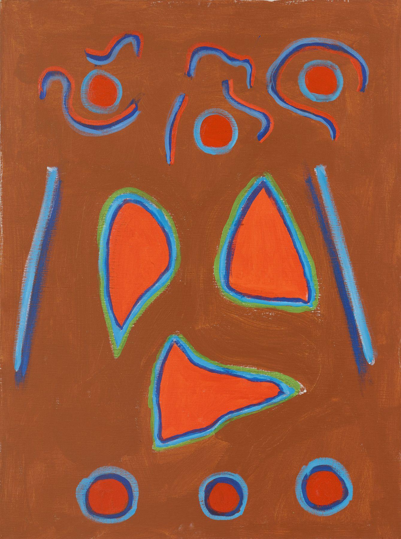 Challenge (1976) Acrylic on canvas