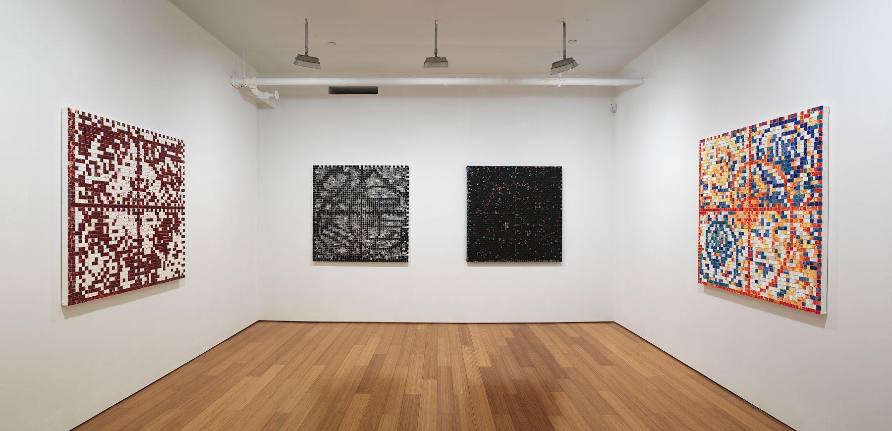 Jack Whitten,Installation view, Alexander Gray Associates, 2007