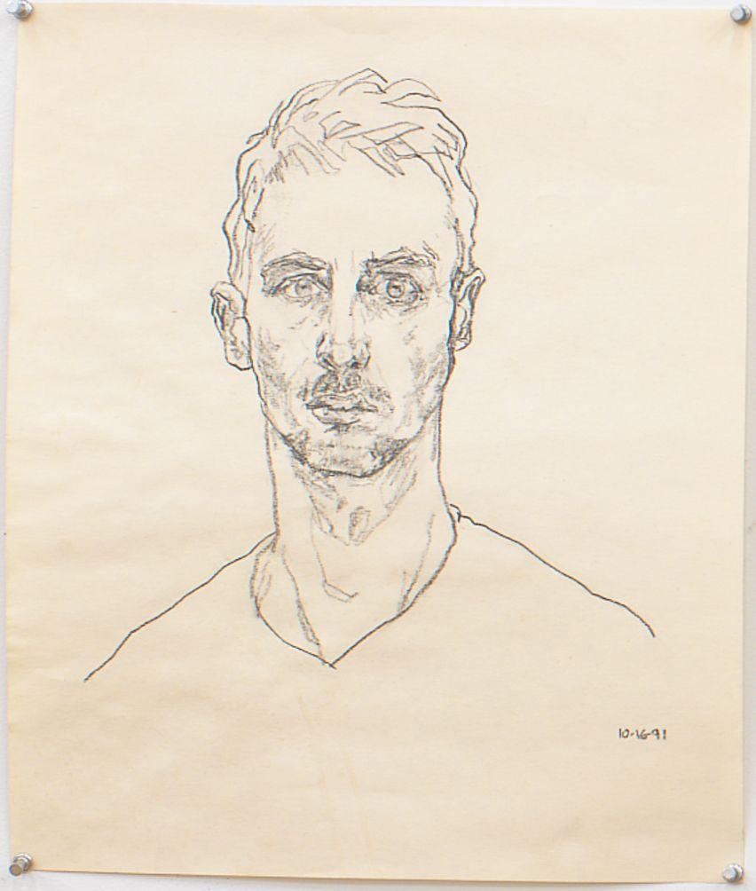 Self Portrait, 1991, Graphite on paper