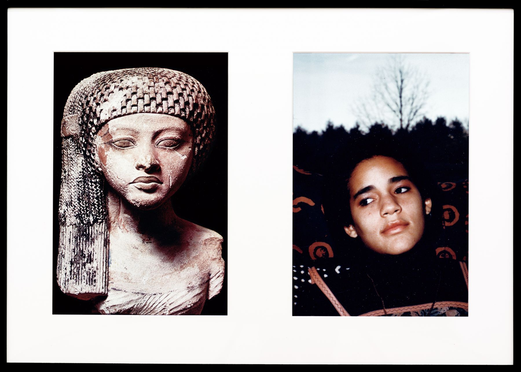 Miscegenated Family Album (Worldly Princesses), L: Nefertiti's daughter, Merytaten; R: Devonia's daughter, Kimberley, 1980/1994, Cibachrome prints, 26h x 37w in (66.04h x 93.98w cm)