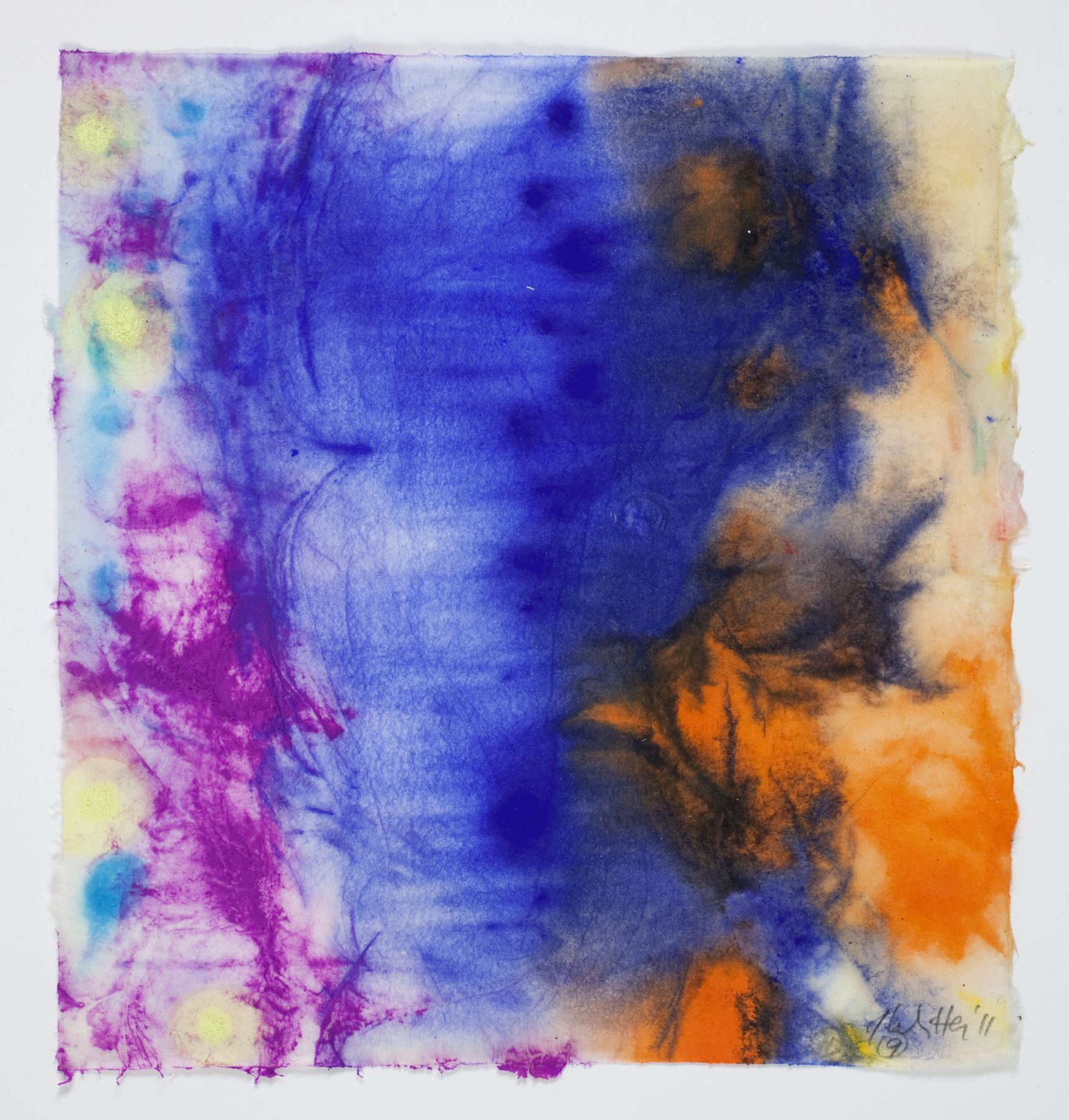 Saturation #9, 2011, Mixed Media On Paper