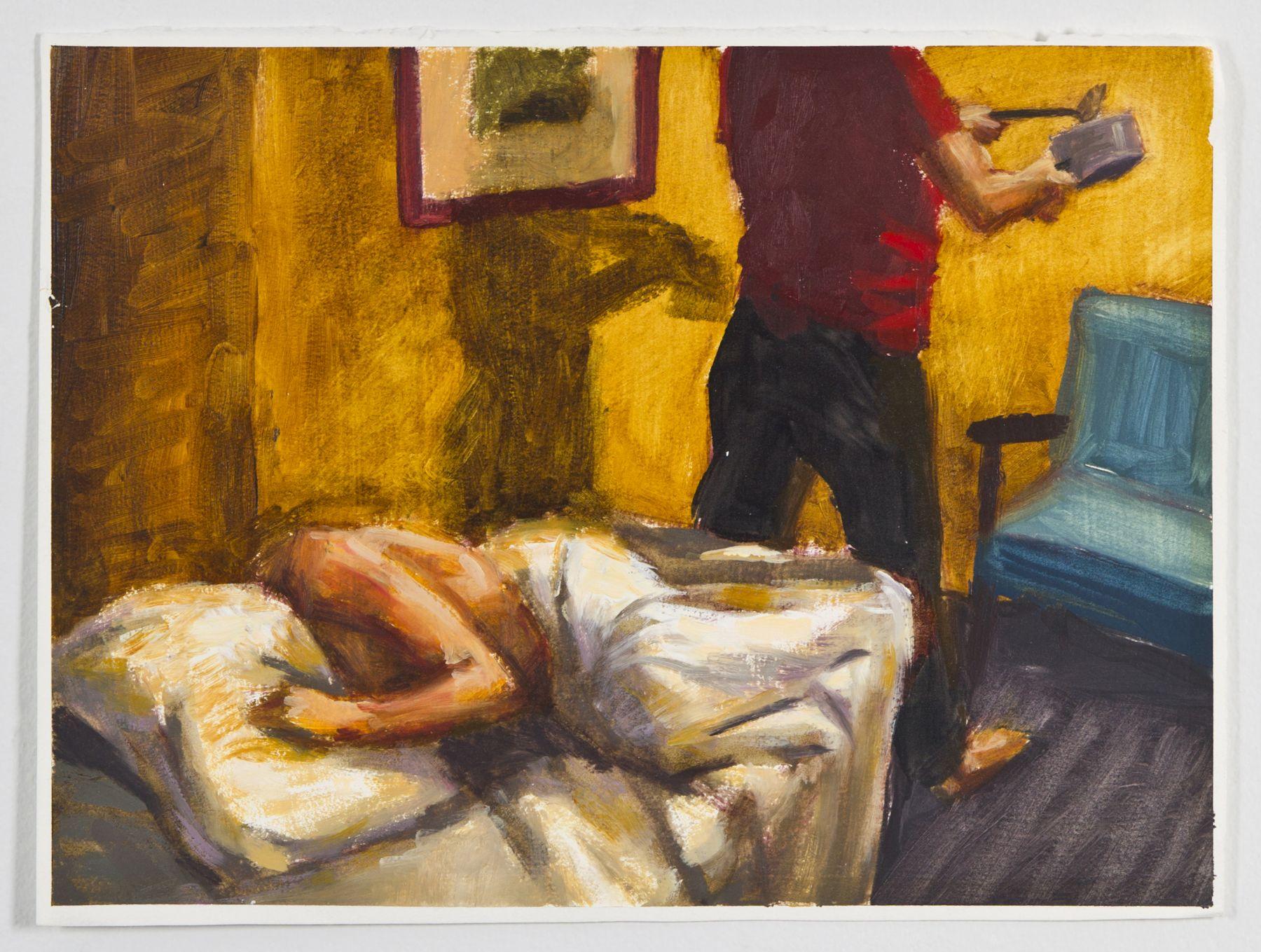 Saucepan, 1988, Oil on gessoed paper