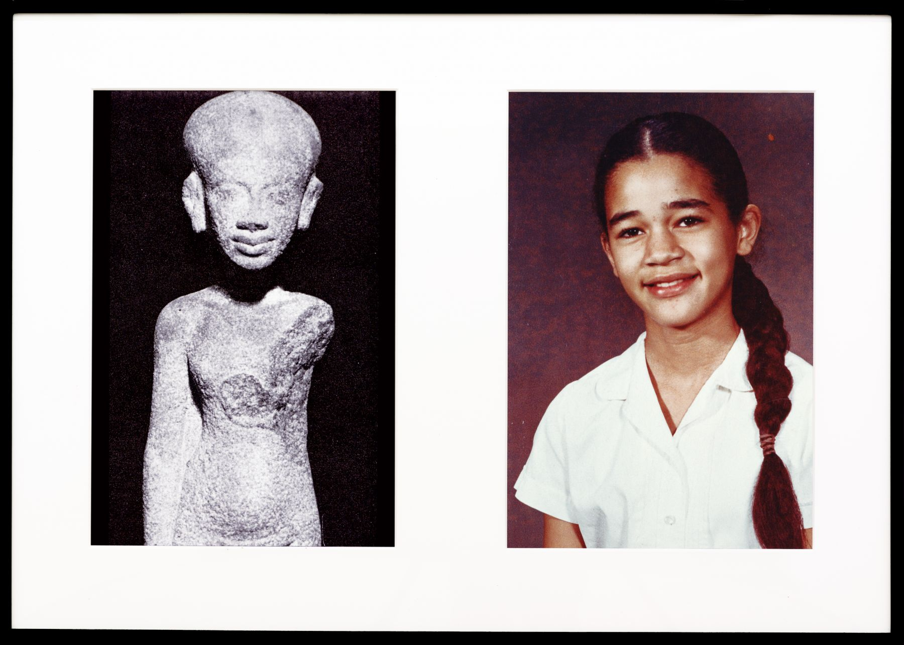 Miscegenated Family Album (Young Princesses), L: Nefertiti's daughter, Ankhesenpaaten; R: Devonia's daughter, Candace, 1980/1994, Cibachrome prints, 26h x 37w in (66.04h x 93.98w cm)