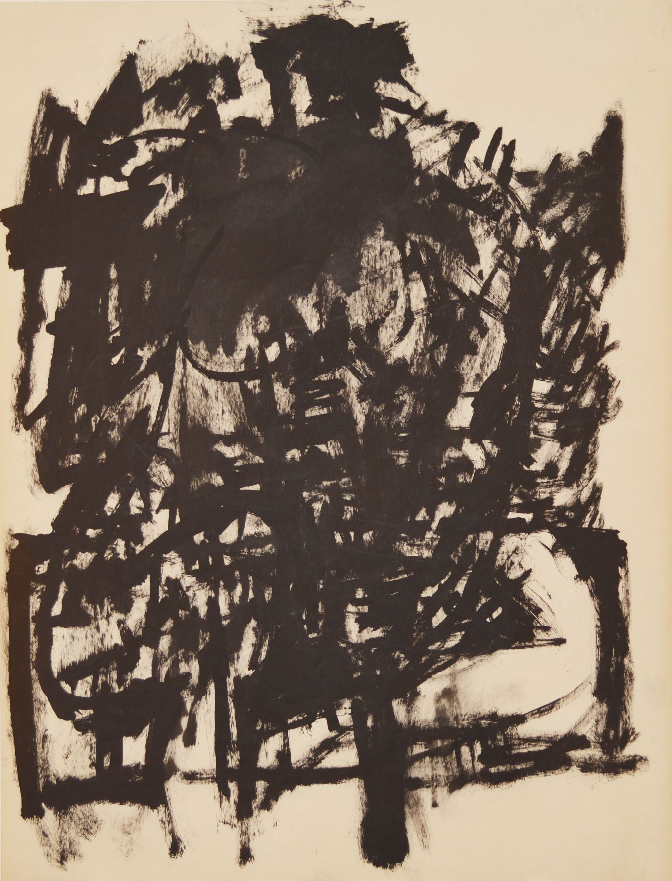 Jack Tworkov, Untitled (Seated Figure), c. 1954