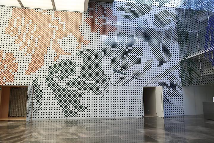 Regina Silveira Installation view, Museo Amparo (2014)