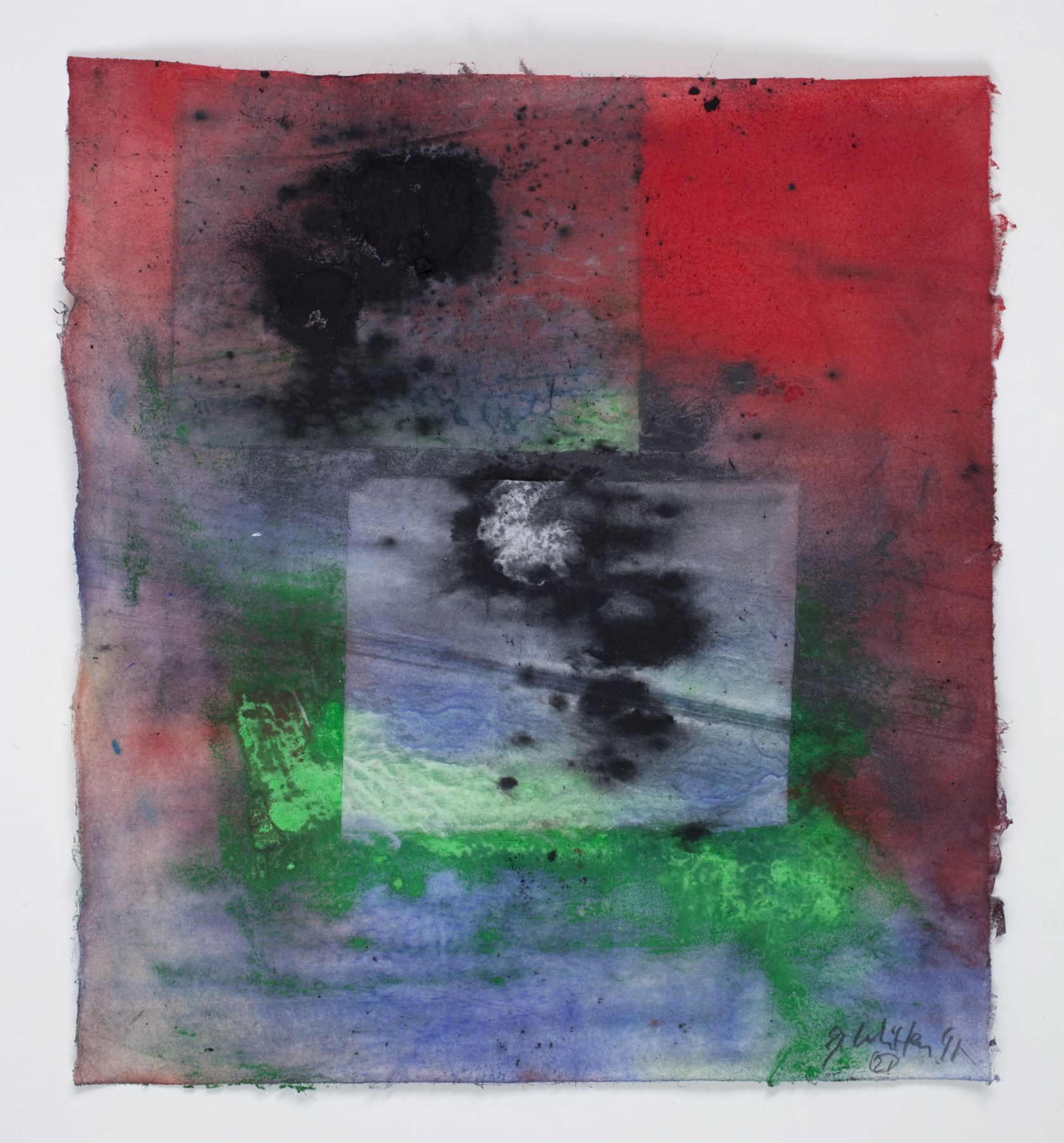 Saturation #21, 2011, Mixed Media On Paper