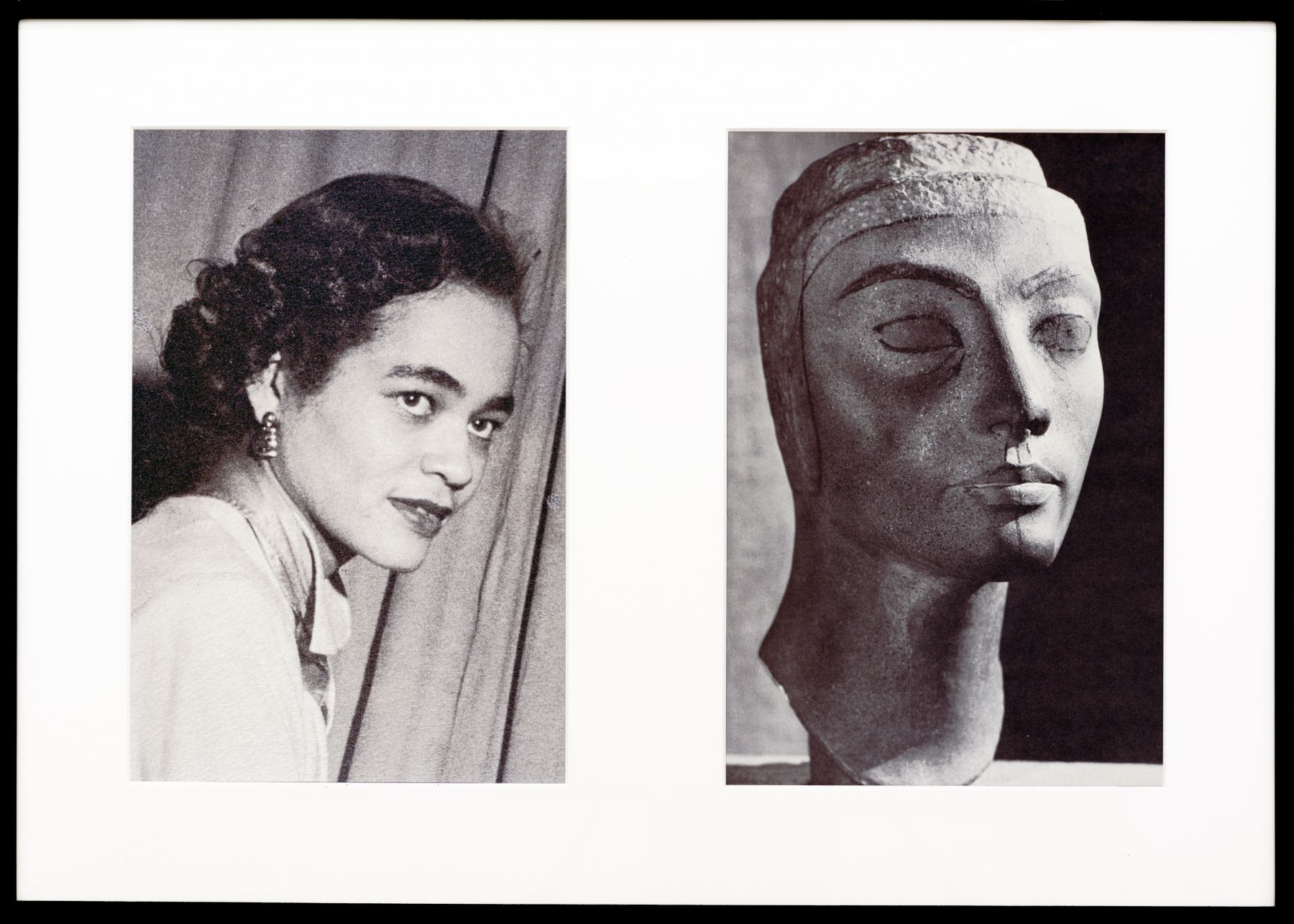 Miscegenated Family Album (Progress of Queens), L: Devonia, age 36; R: Nefertiti, age 36, 1980/1994, Cibachrome print, 26h x 37w in (66.04h x 93.98w cm)