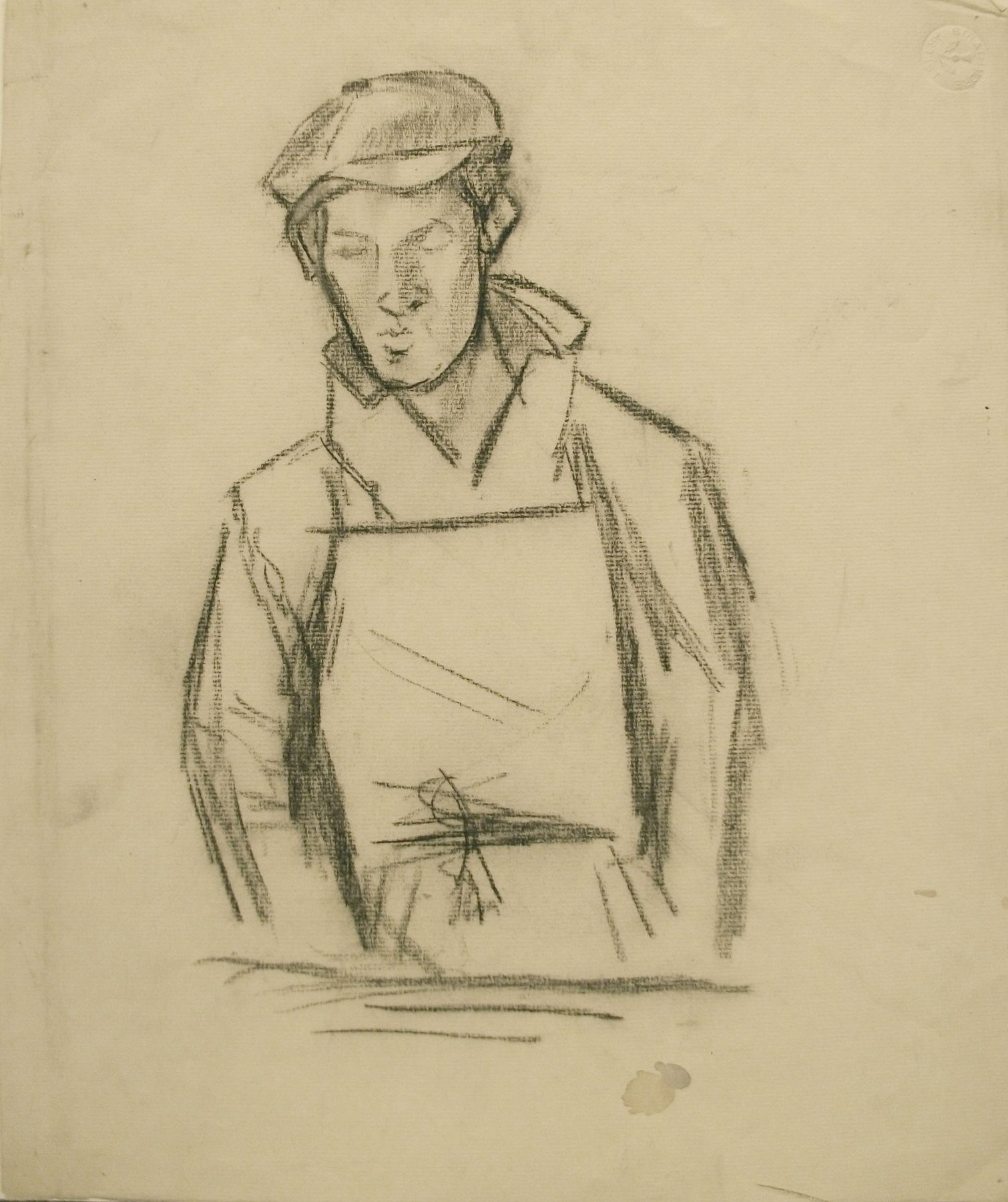 Untitled (Workman), c. 1935, Charcoal on paper