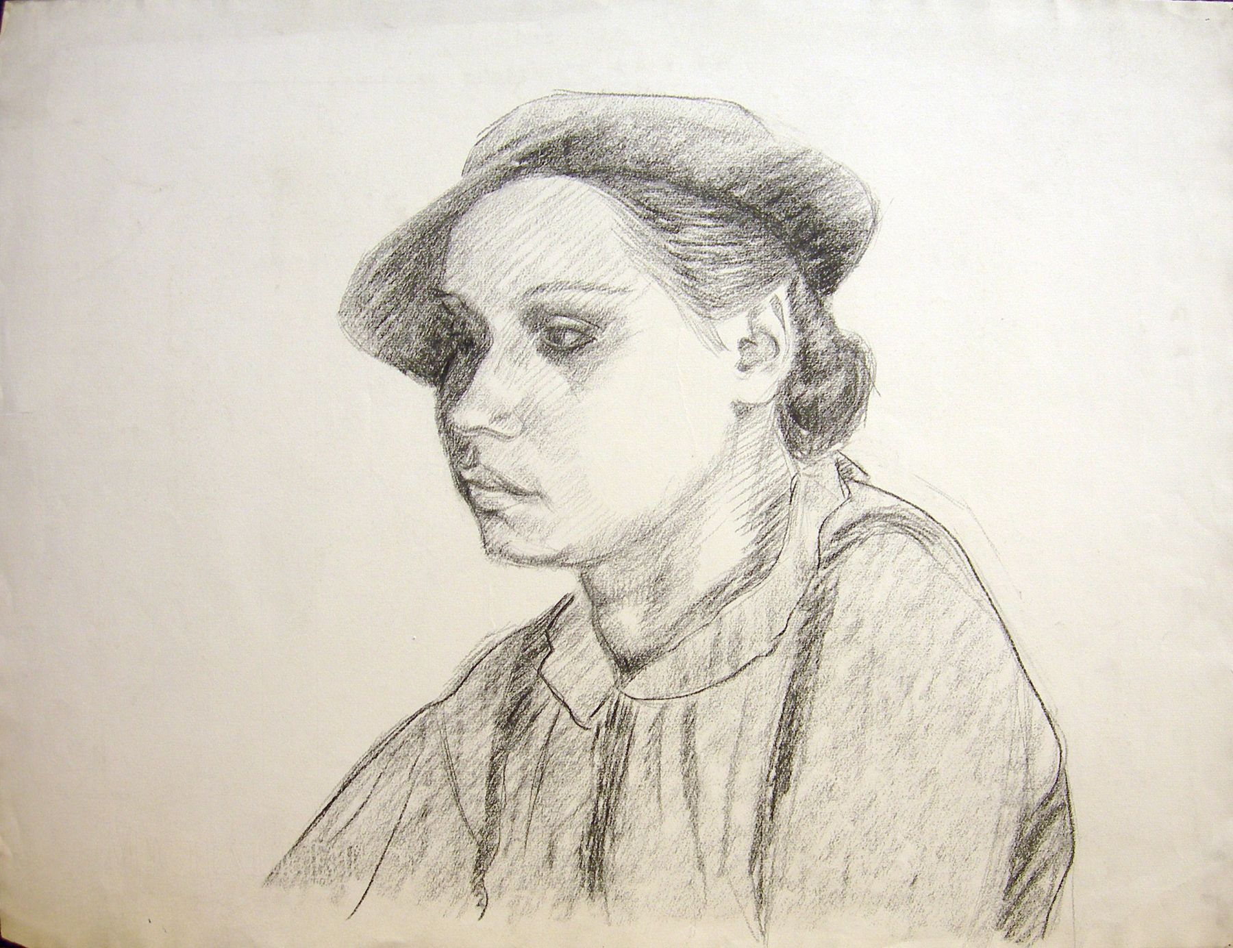 Untitled (Portrait of Florence), c. 1930, Charcoal on paper