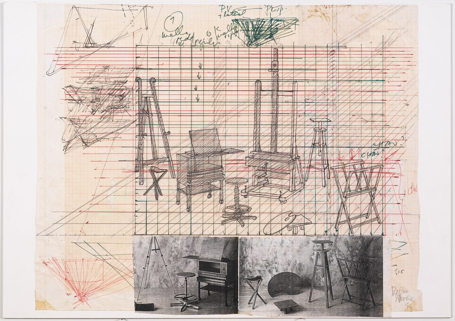 Working drawing for Desaparência (Estúdio) 1, 1999