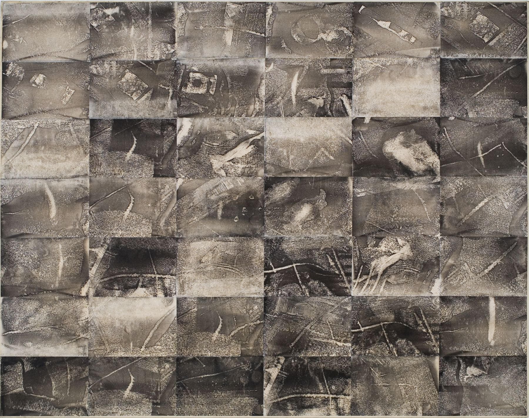Jack Whitten, Xeroxed!, 1975