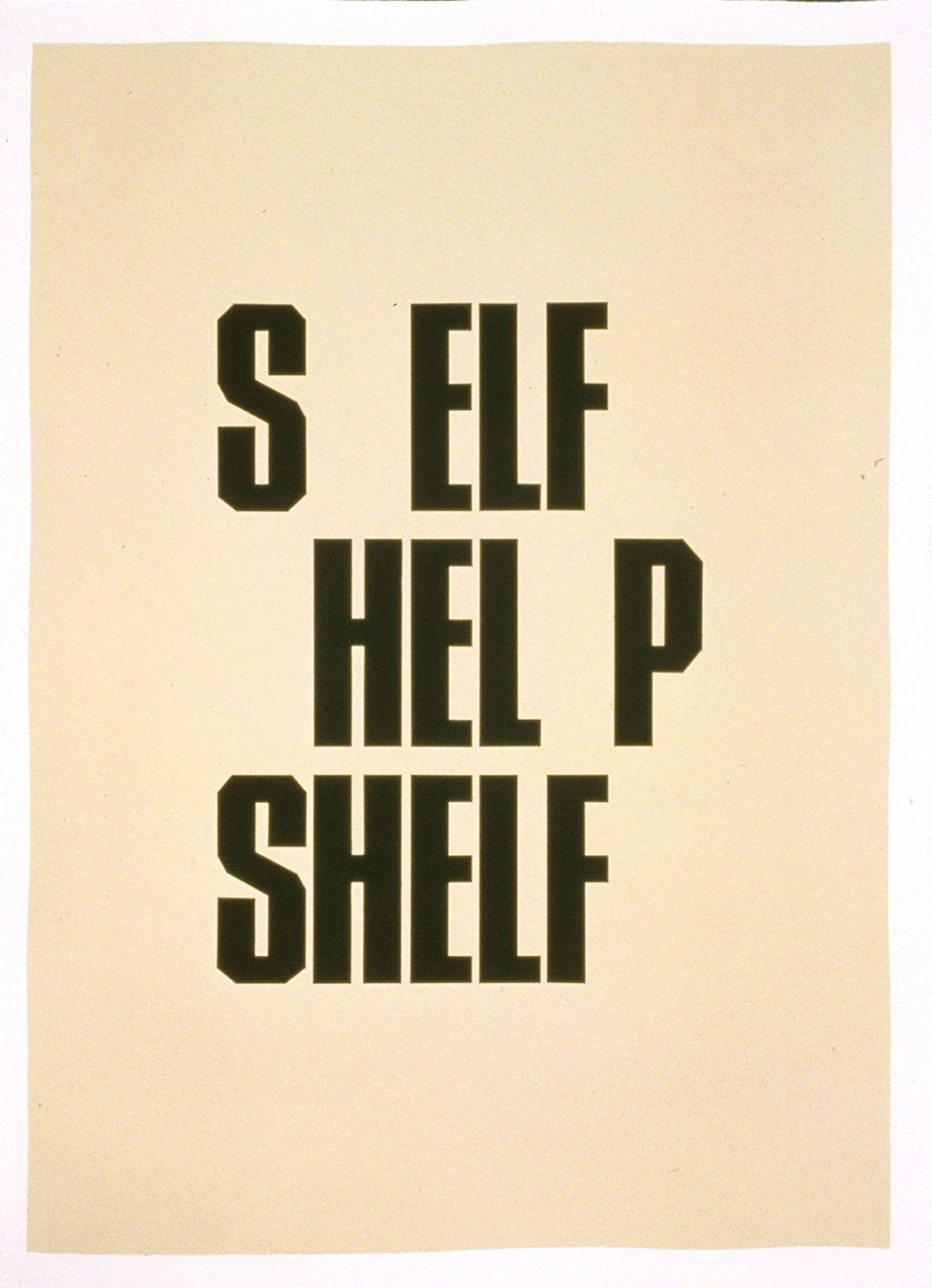 Shelf, 2001, from theRoom series
