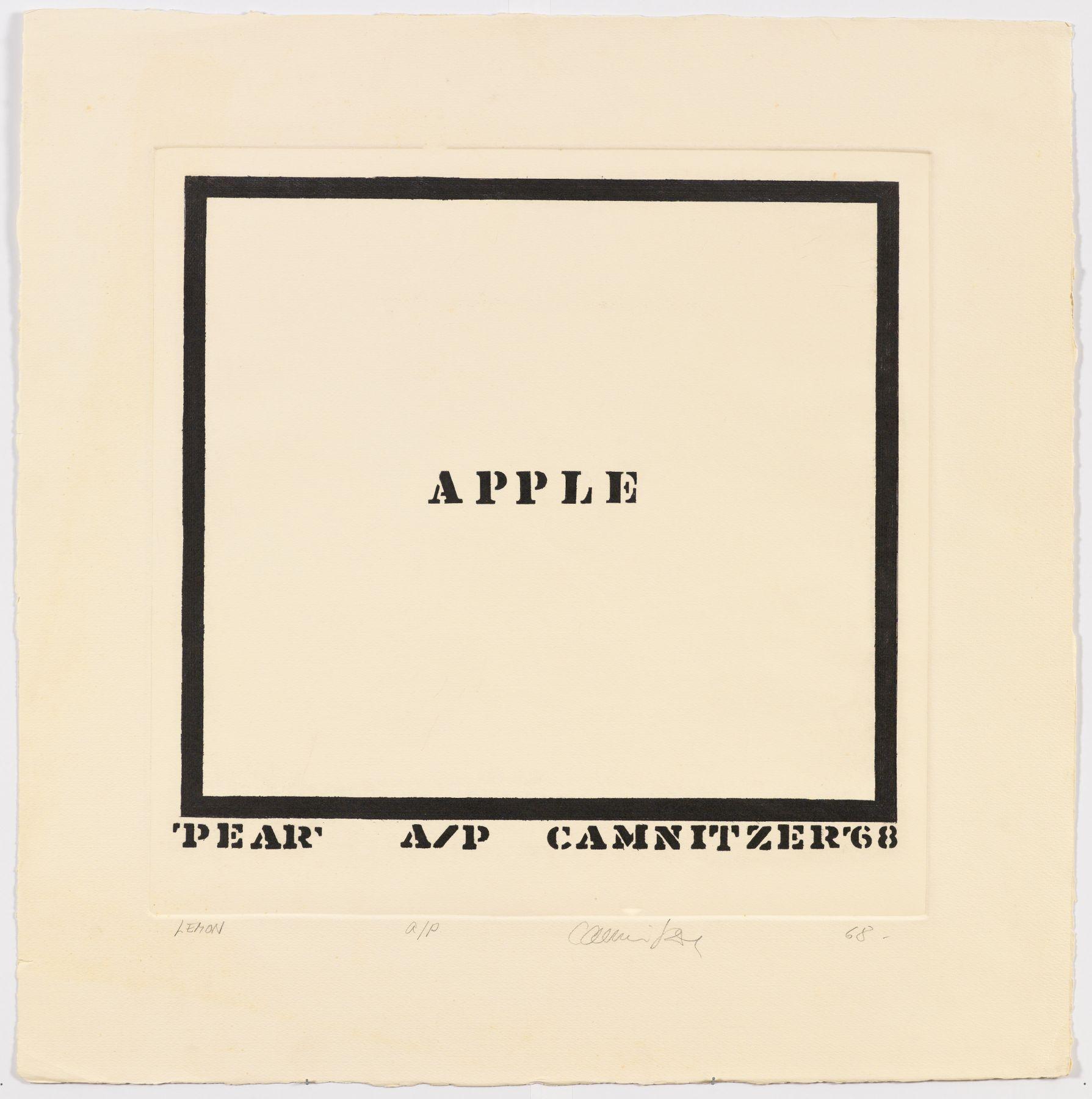 Luis Camnitzer, Lemon, 1968