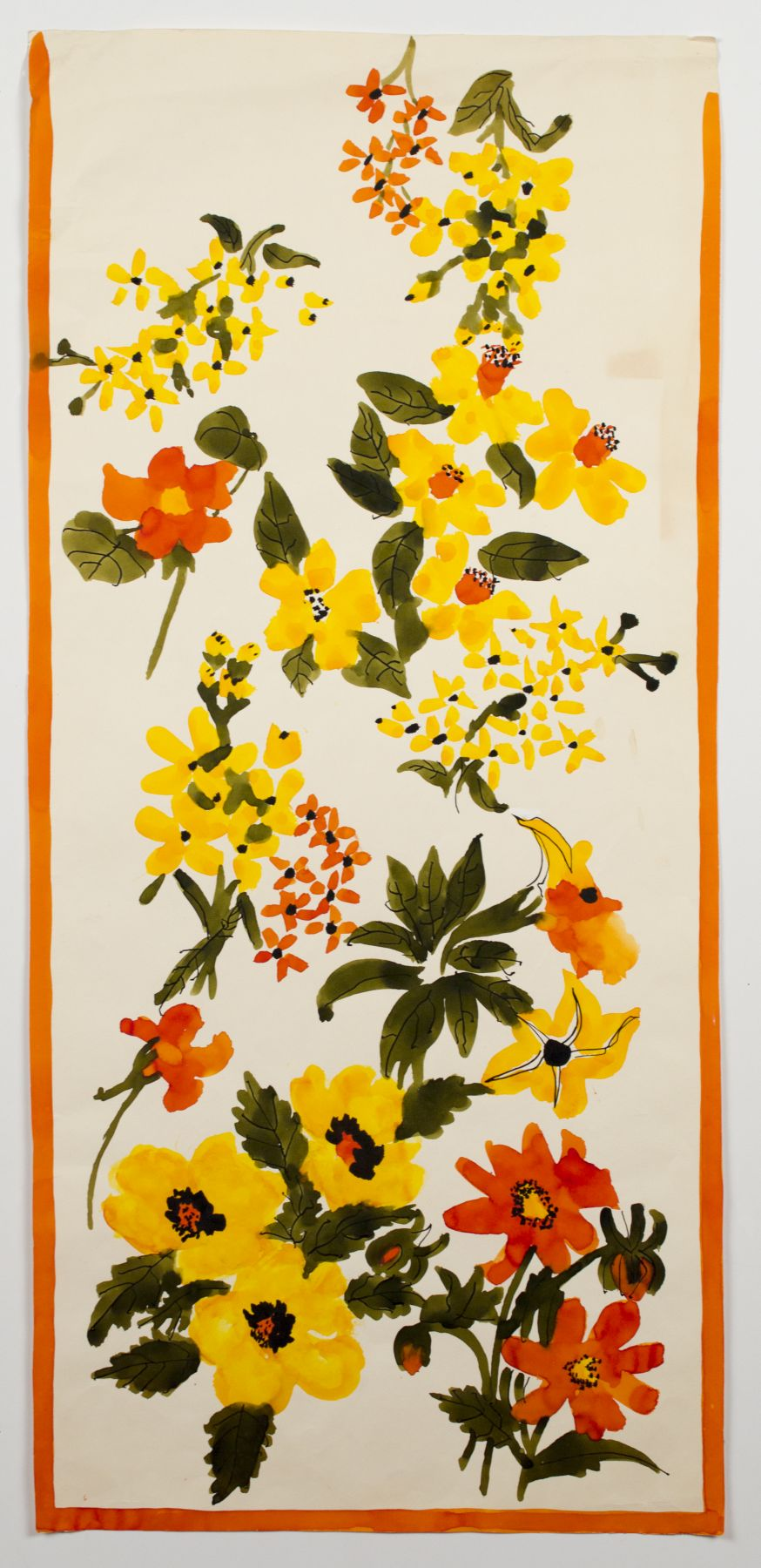 "Country Garden, from the ""Florals"" series [016], c. 1974, Watercolor On Paper"