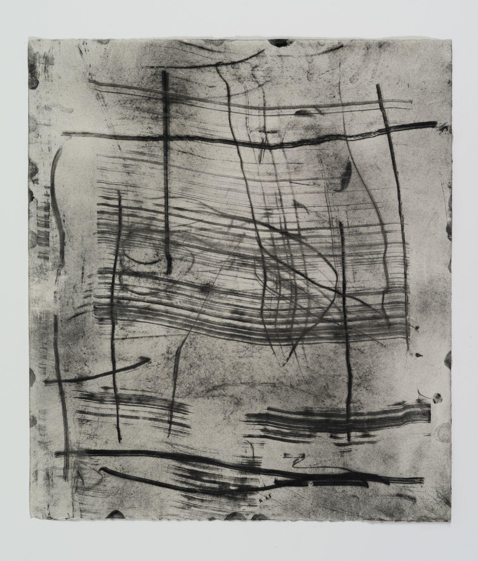 Jack Whitten, Flat Plate Monoprint #3, 1974