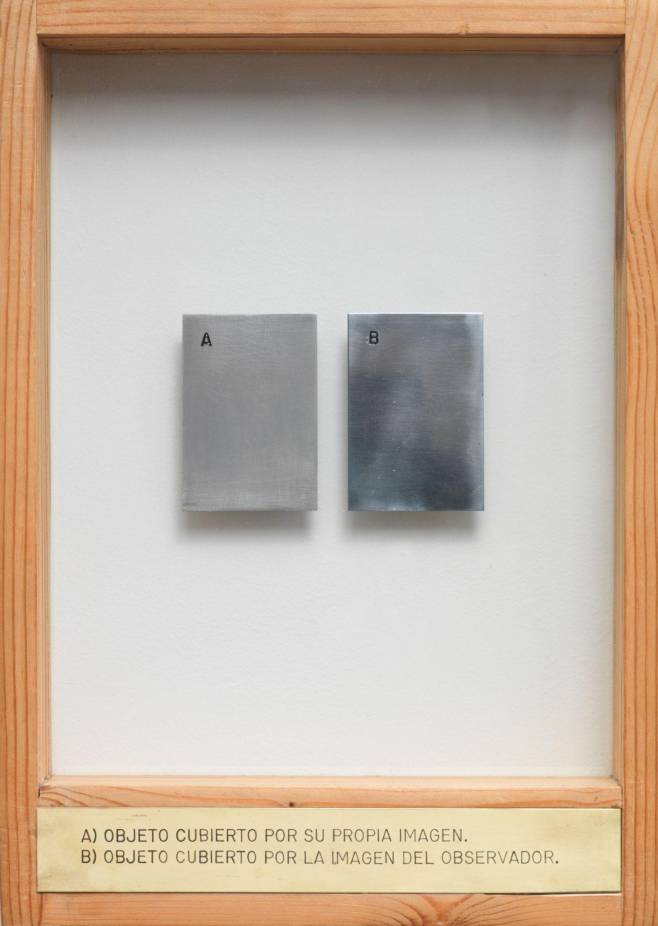 A) Objeto Cubierto Por Su Propia Imagen. B) Objeto Cubierto Por La Imagen Del Observador., 1971-1974, Mixed media