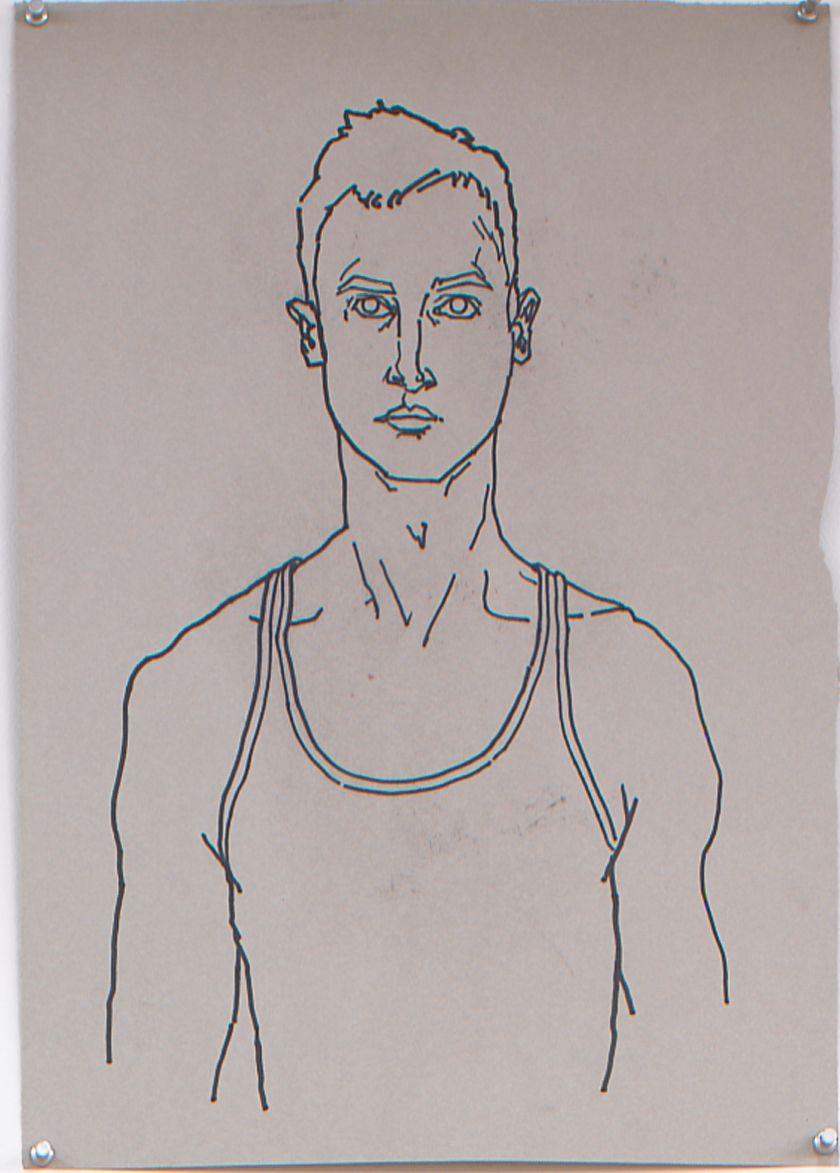Self Portrait, 2003, Marker on paper