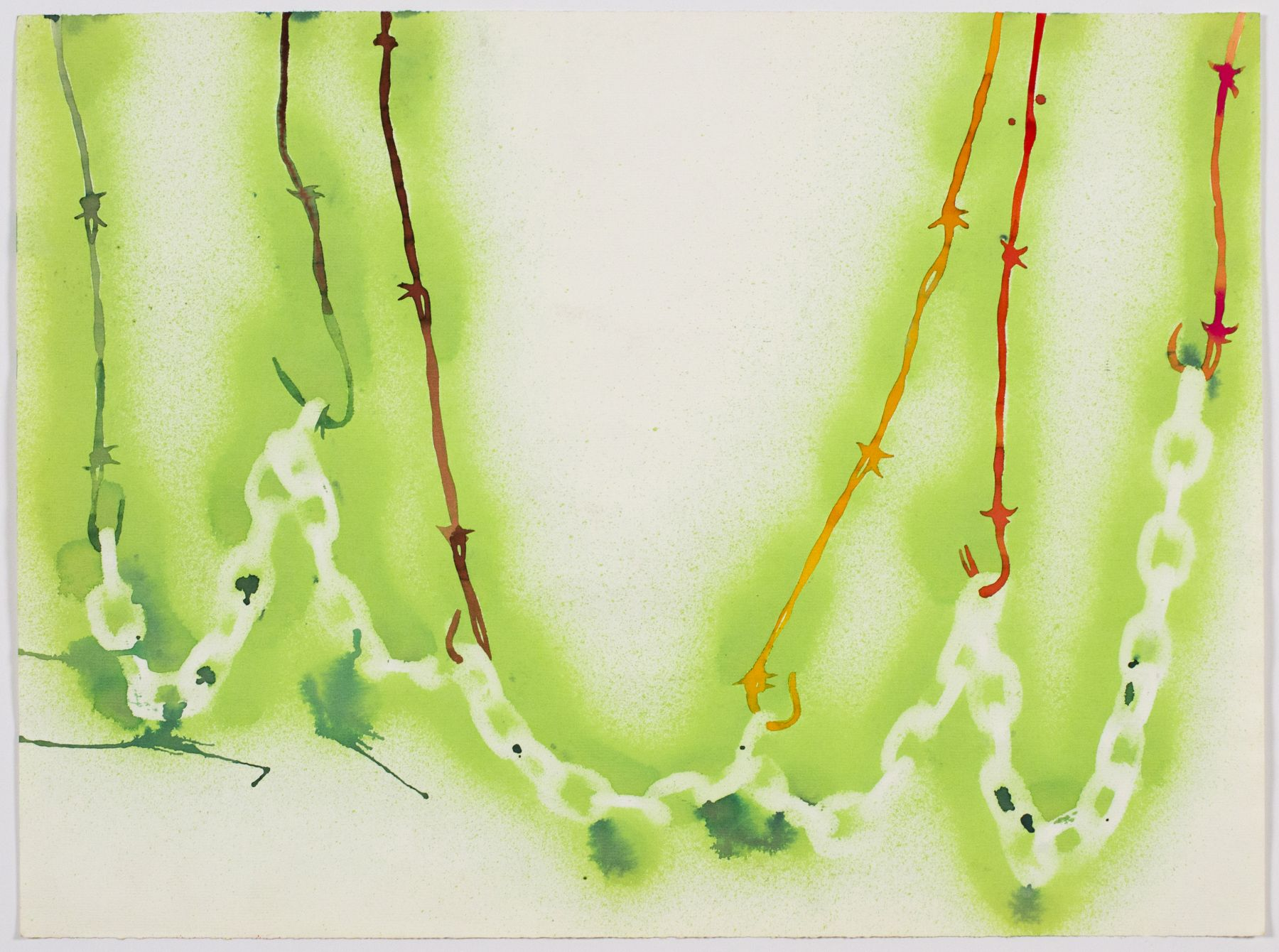 Untitled, 1974, Watercolor and ink on paper