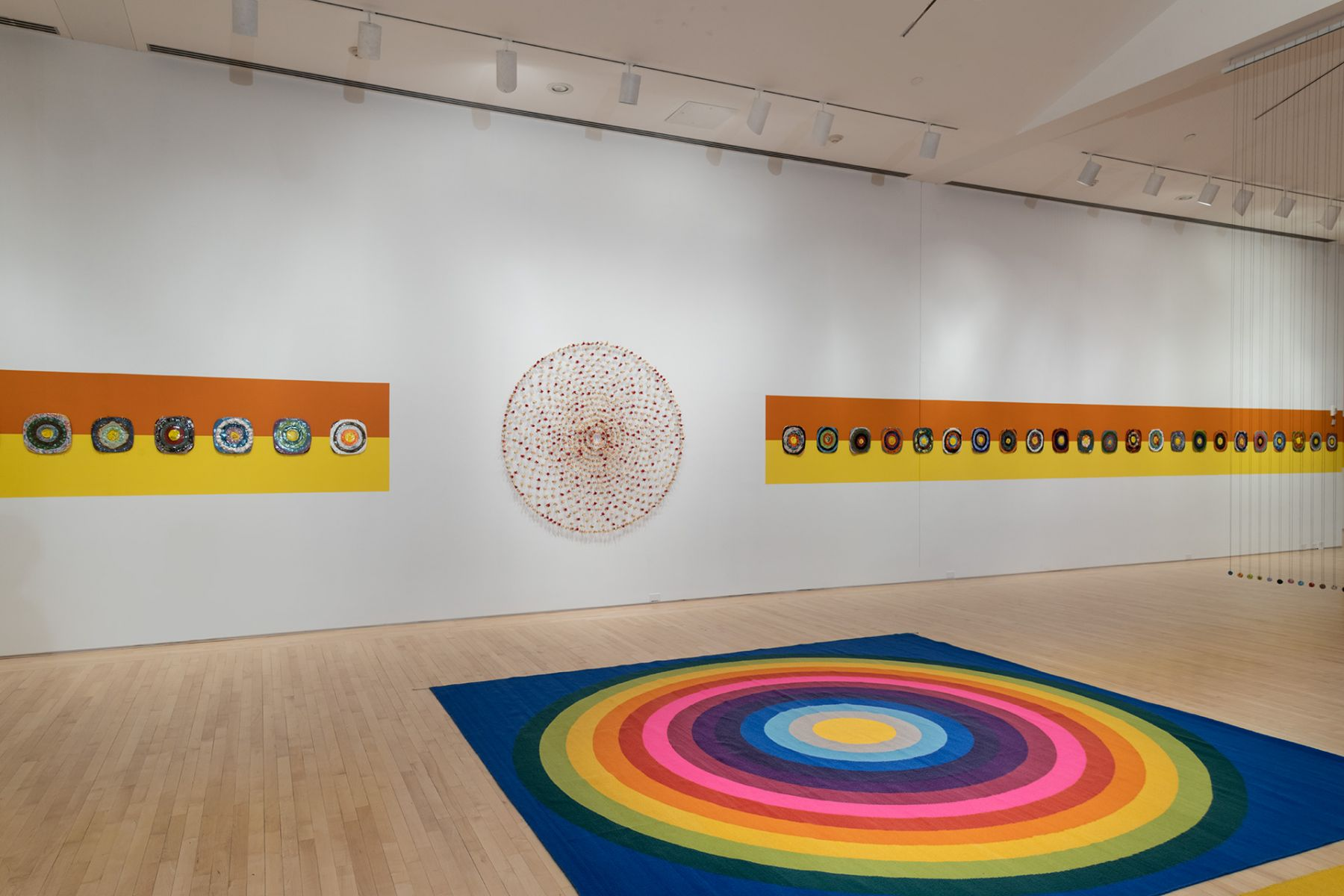 Waiting for the UFOs (a space set between a landscape and a bunch of flowers),installation view,Kemper Museum of Contemporary Art, Kansas City (2019)