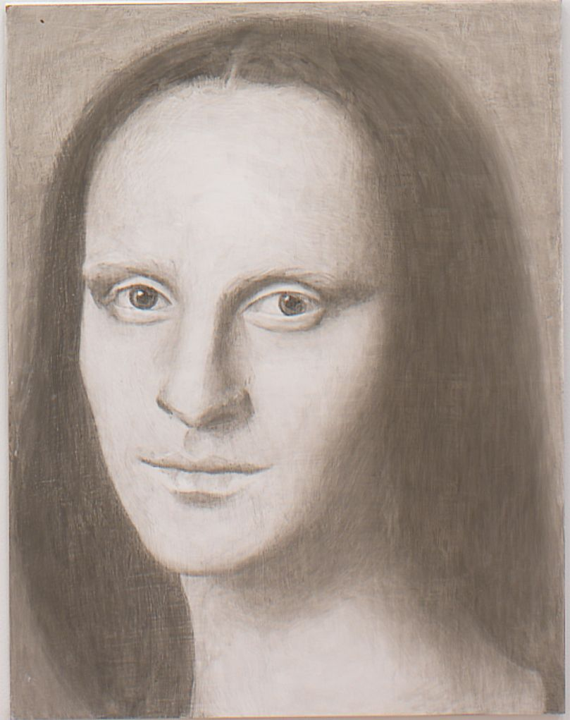 Mona (from Panel Series), 2005, Ink on panel