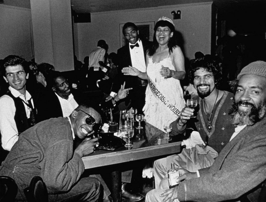 Mlle Bourgeoise Noire celebrates with friends, 1980-1983/2009