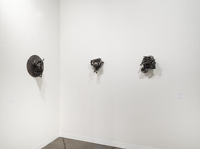 Melvin Edwards, MMOZ (2005); John Henry for John Scott (2012); Freedom Fighter (1992)