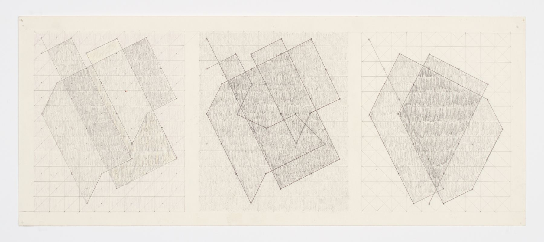 Untitled (Three Studies for the Knight Series), c. 1975, Graphite on paper