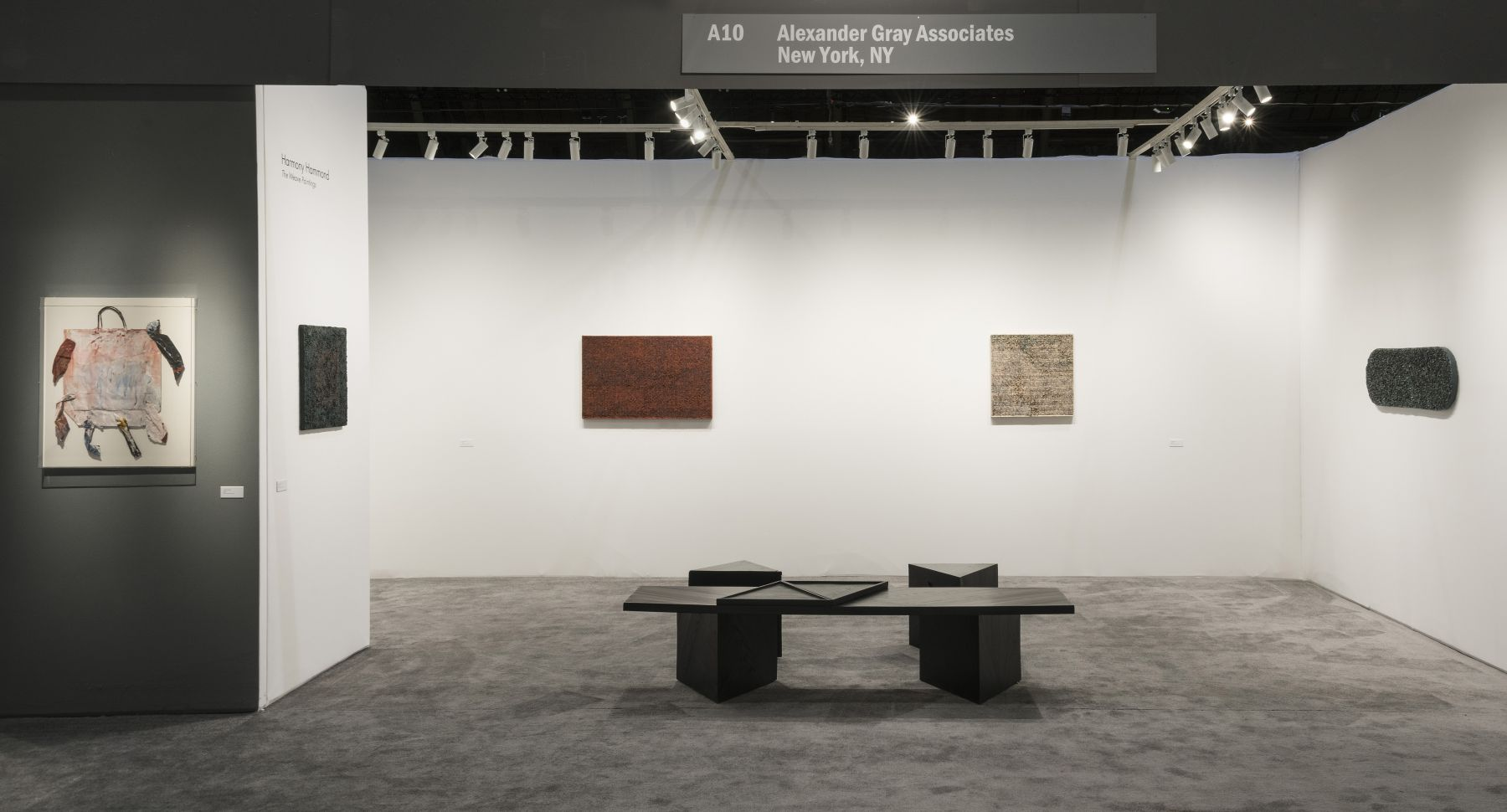 Harmony Hammond: The Weave Paintings, installation view, ADAA: The Art Show (2018)