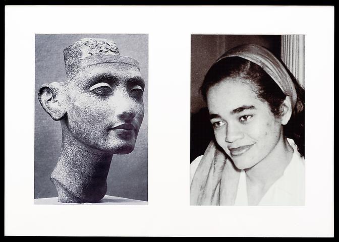 Lorraine O'Grady, Miscegenated Family Album (Young Queens), L: Nefertiti, age 24; R: Devonia, age 24 (1980/1994)