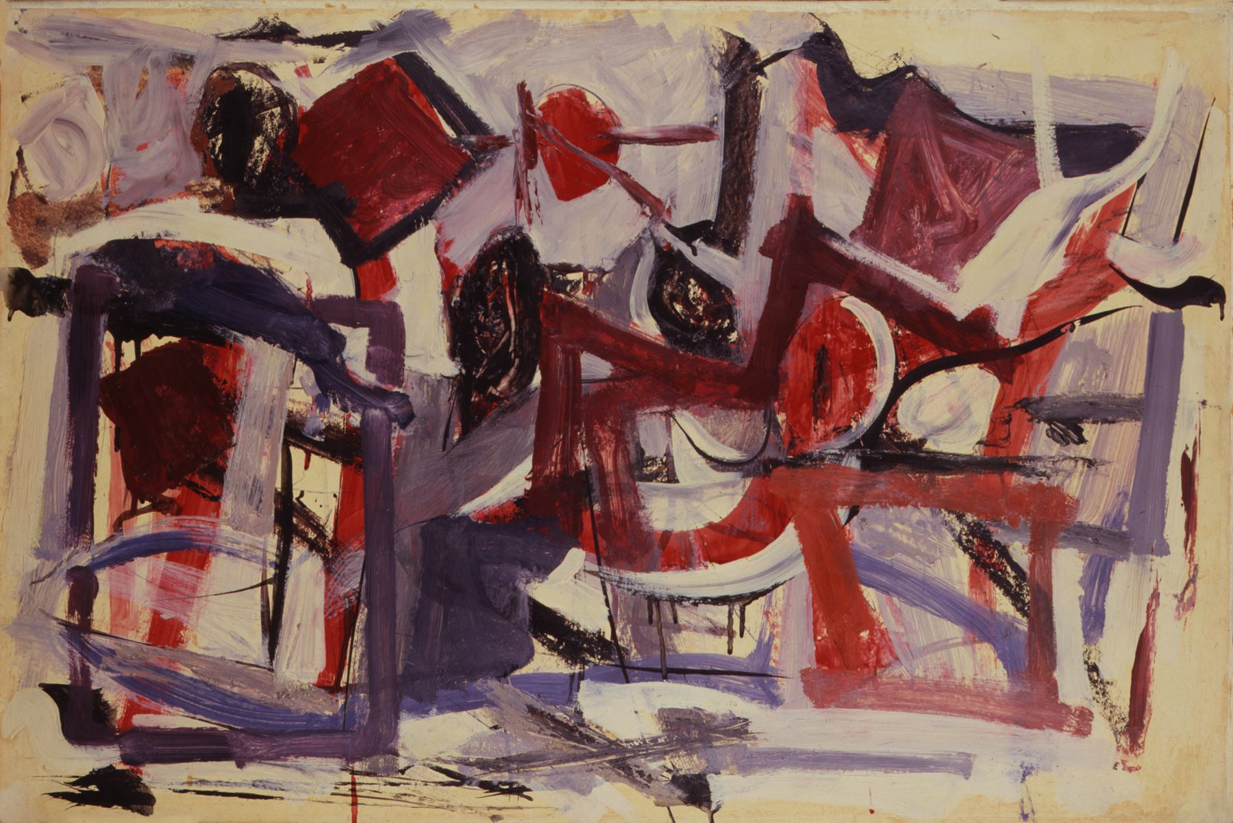 Christmas Morning, 1951, Oil on paper mounted on masonite