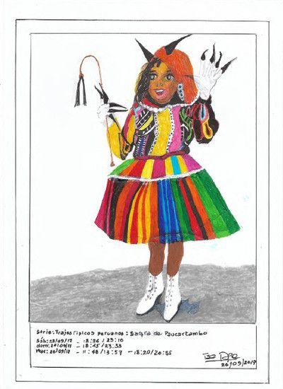 Trajes típicos peruanos: Saqra de Paucartambo (Typical Peruvian costumes: Saqra de Paucartambo), 2017