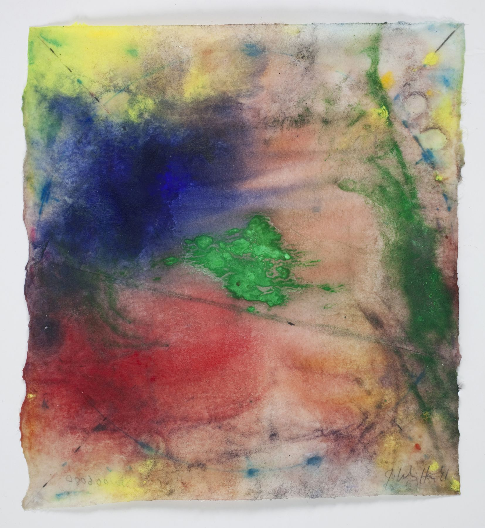 Saturation #8, 2011, Mixed Media On Paper
