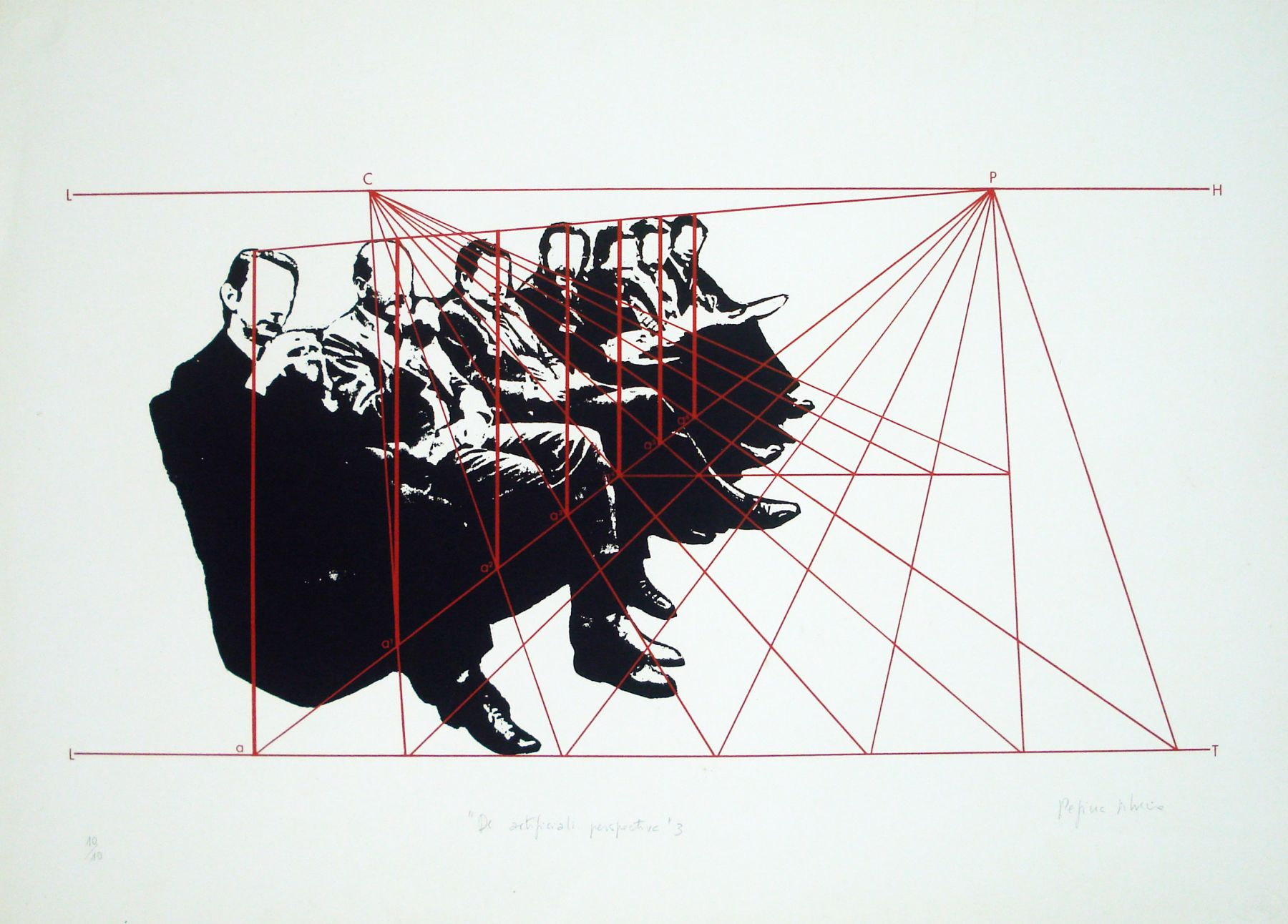De Artificiali Perspectiva 3, 1976, Silkscreen