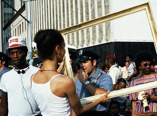 Lorraine O'Grady, Art Is. . . (Cop Eyeing Young Man) (1983/2009)