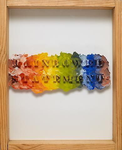 Luis Camnitzer, Rainbowed Statement (1973-1975)