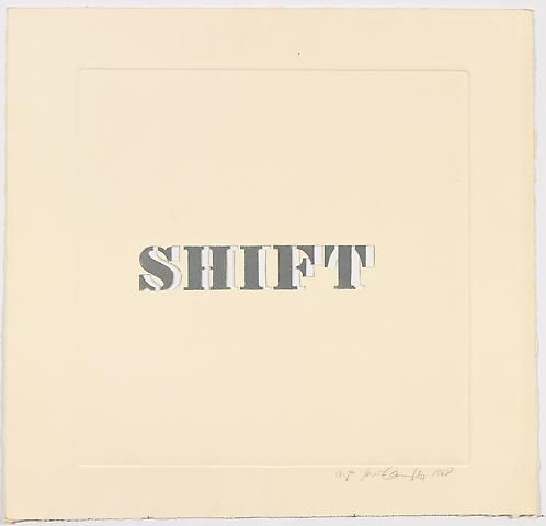 Luis Camnitzer, Shift (1968)
