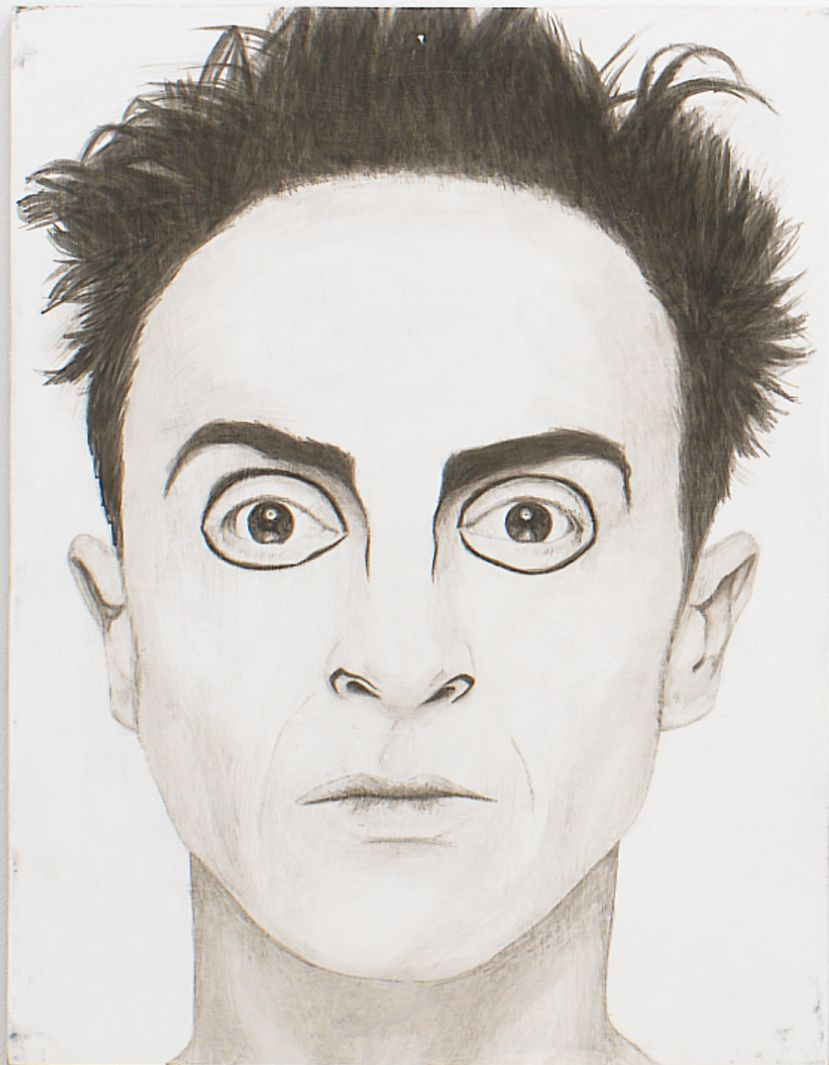 Egon (from Panel Series), 2005, Ink on panel