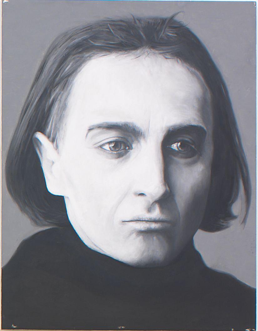 Artaud (from Panel Series), 2005, Ink on panel