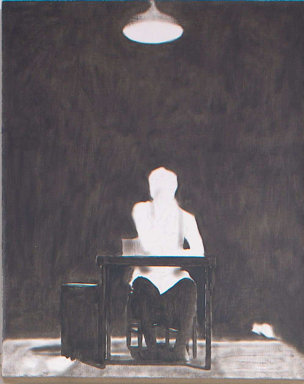 """Self Portrait from """"Divine Promiscue"""", 2003, Oil on linen"""