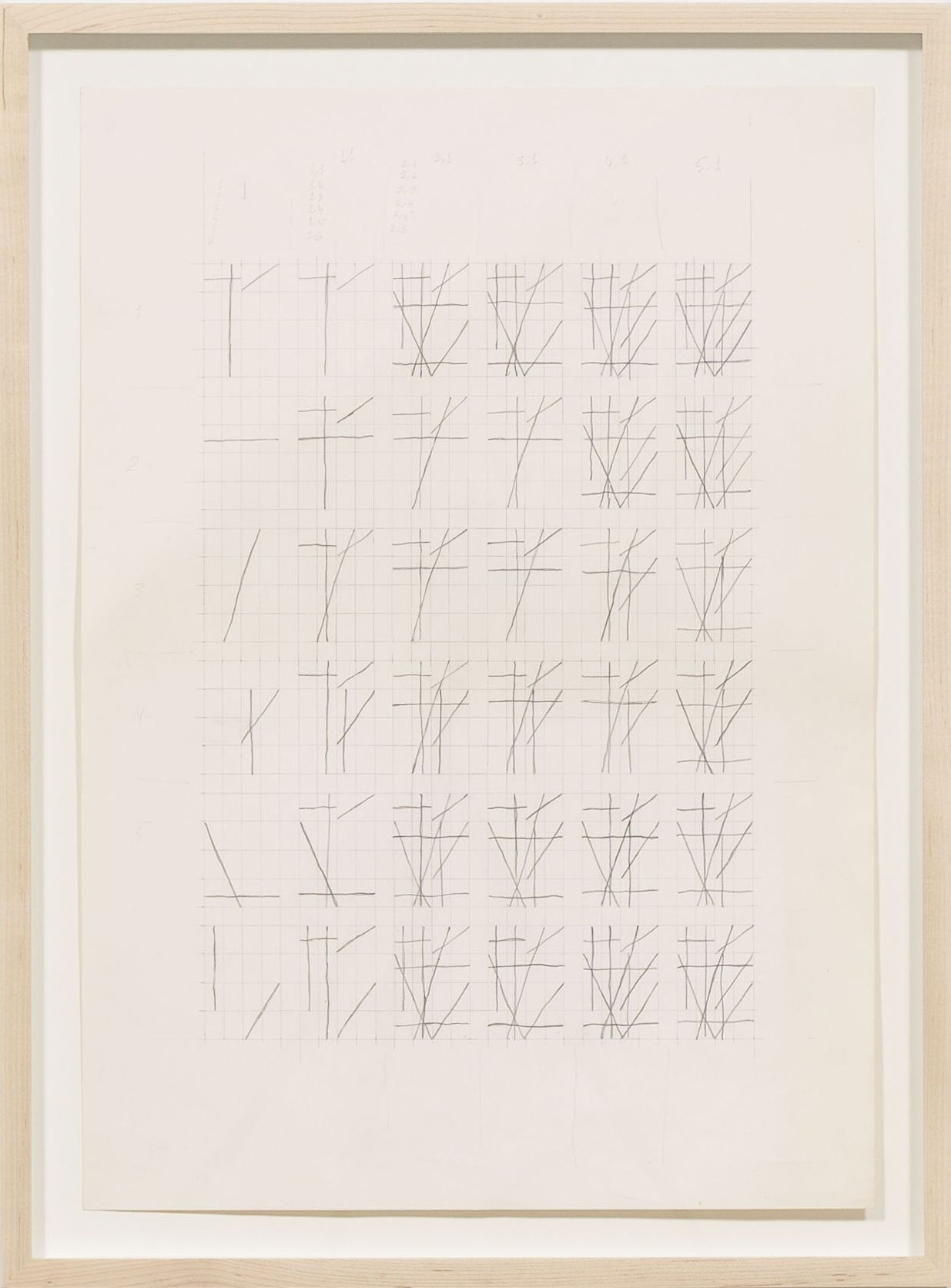 Lines, 2012, Pencil on paper