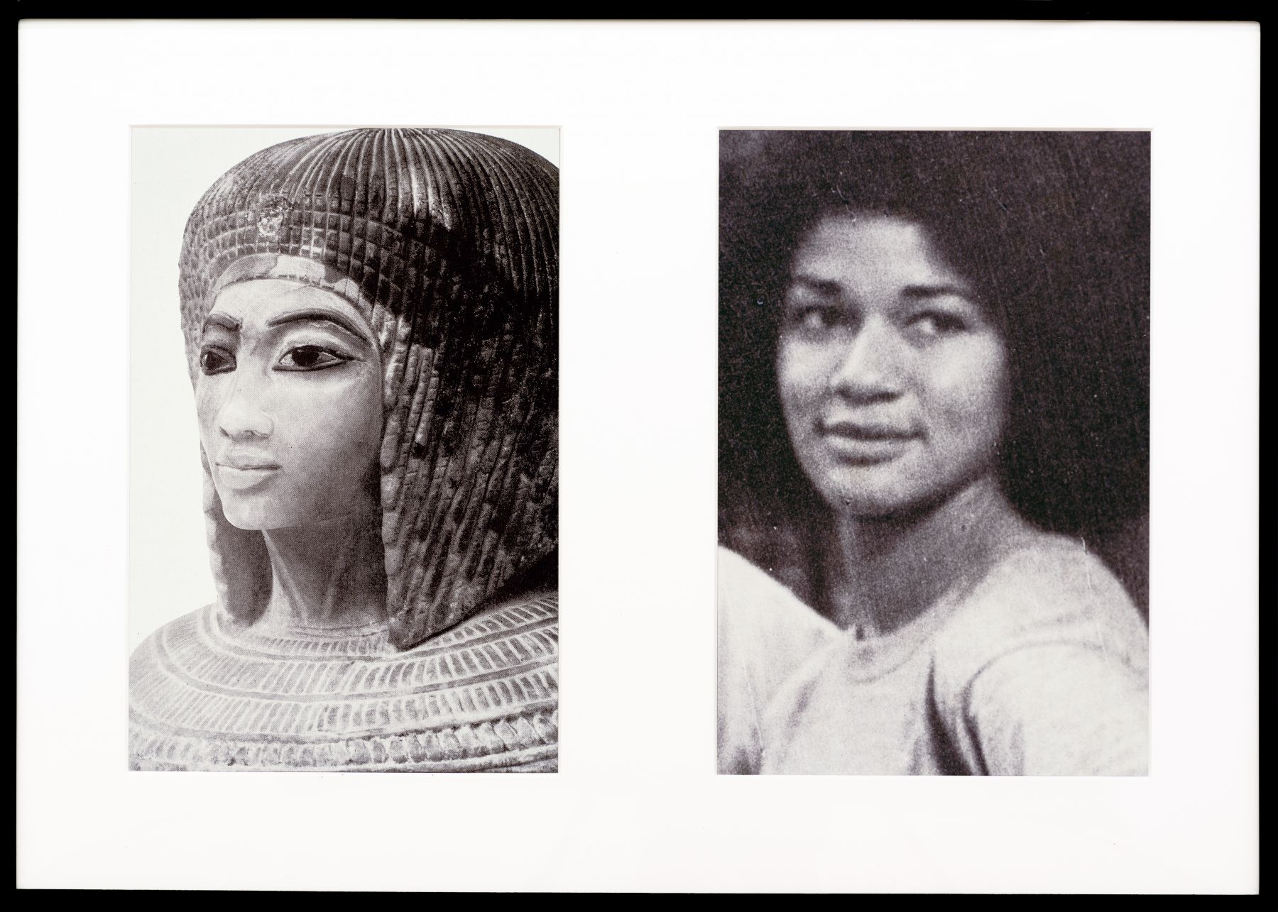 Miscegenated Family Album (Sisters II), L: Nefertiti's daughter Merytaten; R: Devonia's daughter, 1980/1994, Cibachrome prints, 26h x 37w in (66.04h x 93.98w cm)