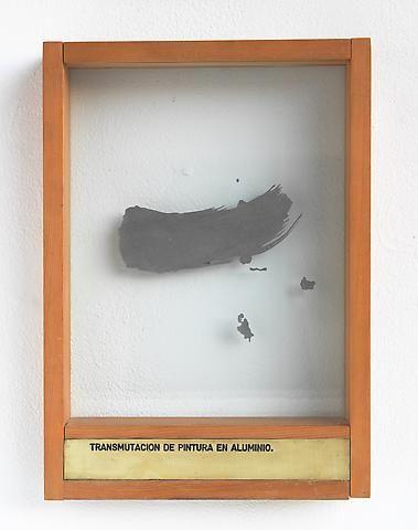 Luis Camnitzer Transmutacion de Pintura en Aluminio (1973-1976); Mixed media