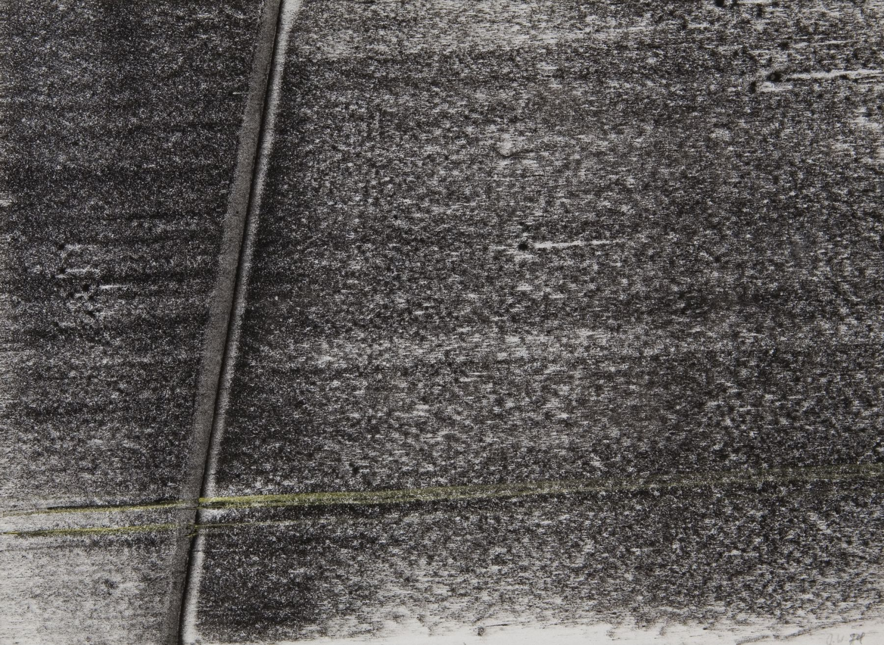 Topographical Space #4, 1974, Mixed Media On Paper
