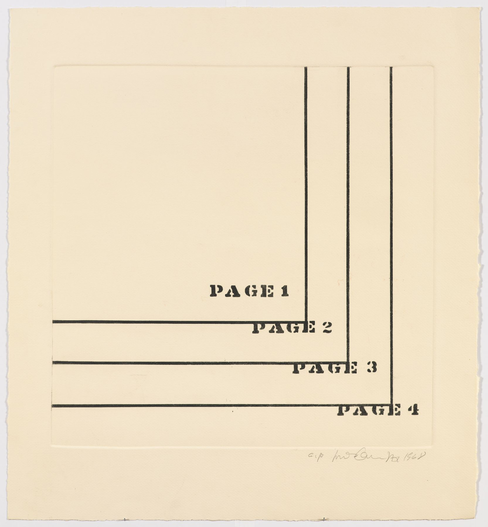 Luis Camnitzer, Four Pages, 1968