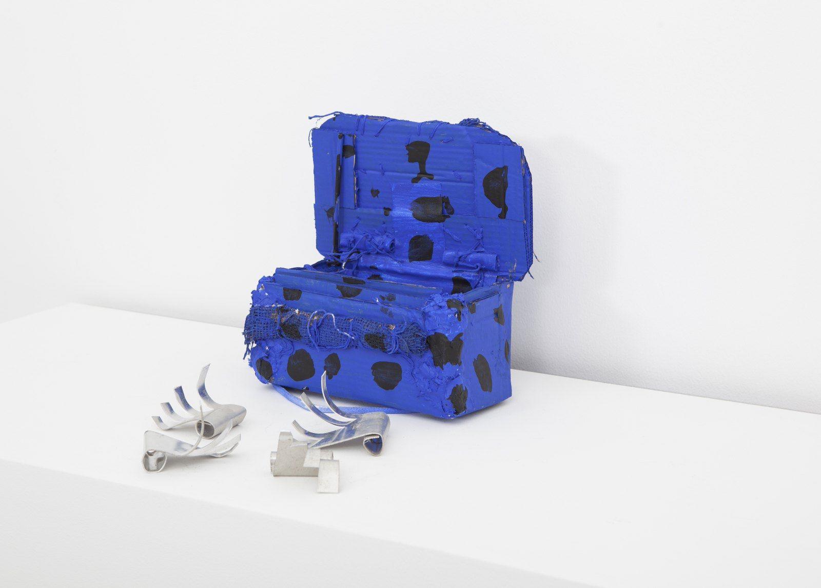 Box No 6 - Blue with Black Spots, 2014, Mixed Media