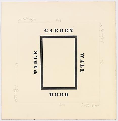 Luis Camnitzer, Garden Wall Door Table (1968)