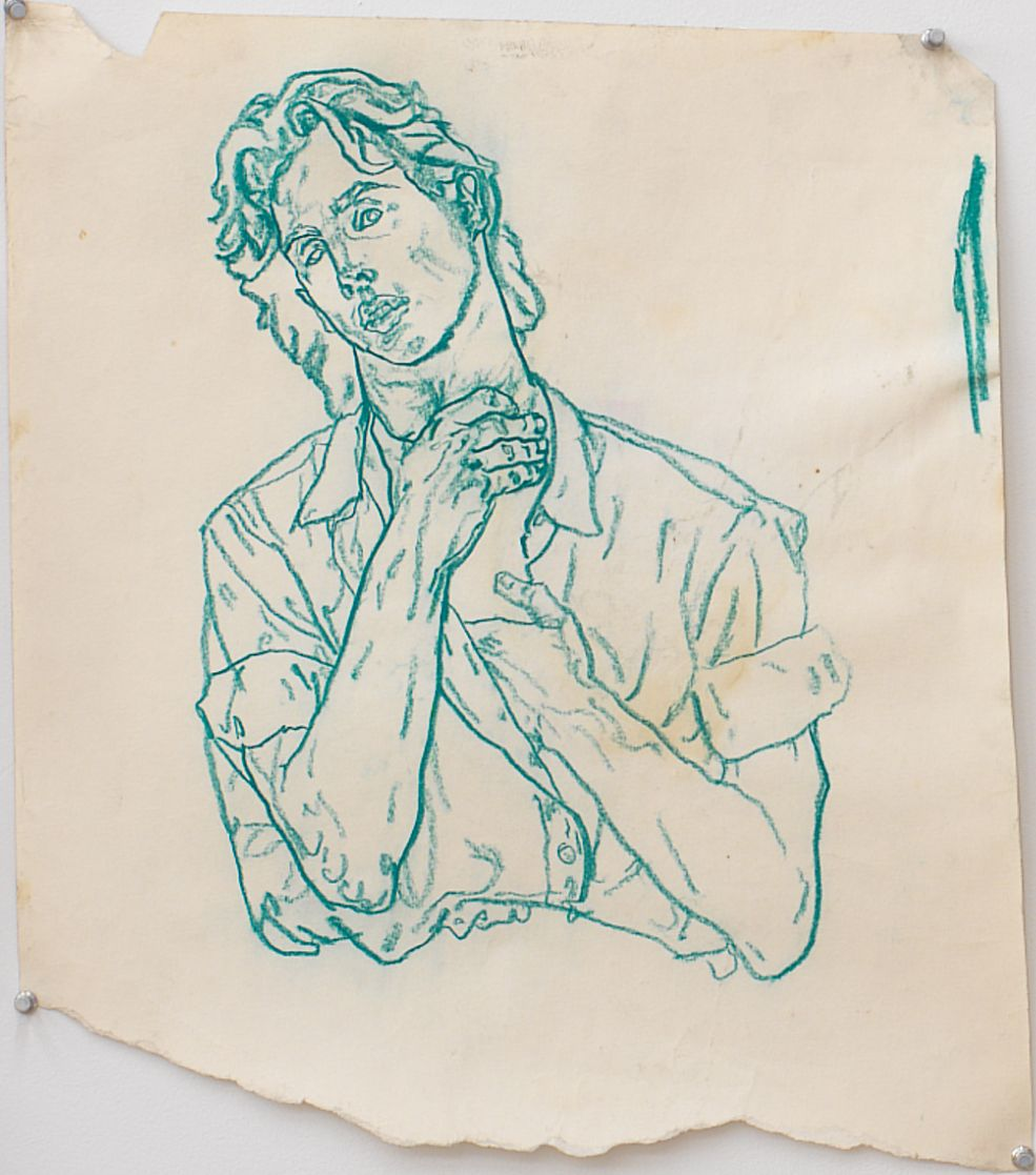 Untitled II, 1979, Green pencil on paper
