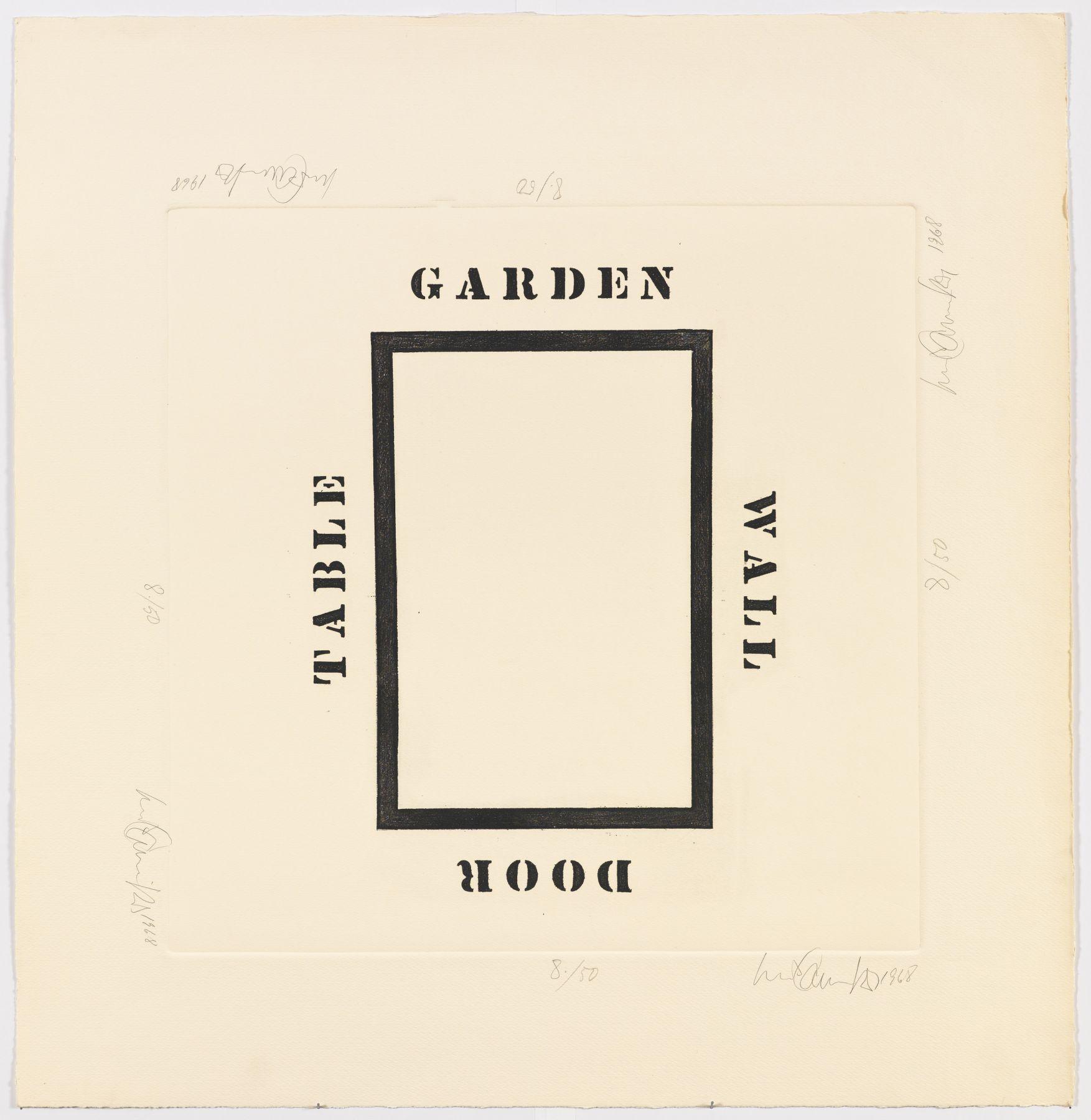 Luis Camnitzer, Garden Wall Door Table, 1968