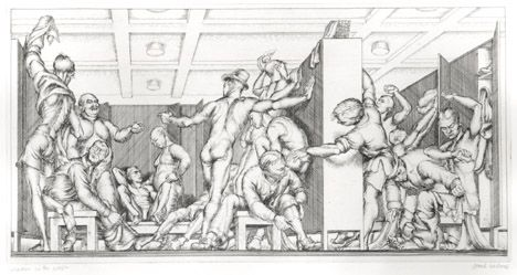 Paul Cadmus, Y.M.C.A. Locker Room (1934)